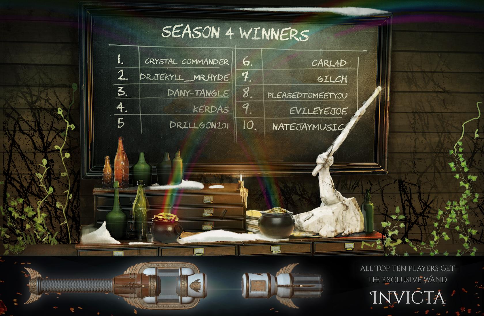Season 4 Winners